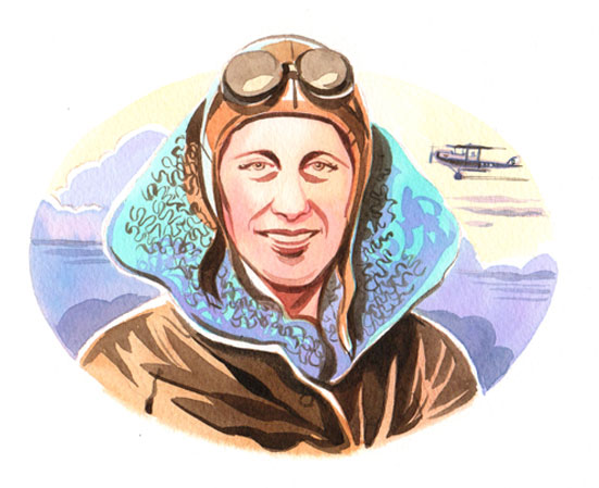 Linda Clark Illustration - Amy Johnson